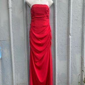 Nicole Miller long formal red dress